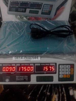 Balanza Peso Digital 40 Kg Batería Recargable