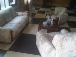 Juego De Muebles Con Mesa Caoba