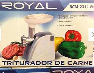 Molino Triturador Embutidor Eléctrico Royal Carnes Maíz