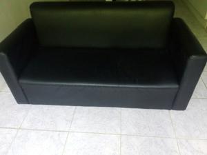 Muebles Semicuero Negro