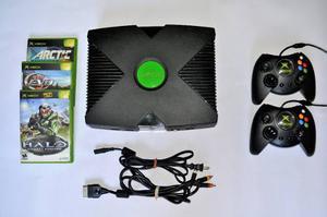 Xbox Clásico + 2 Controles + 3 Juegos