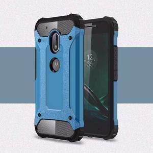 Forro Motorola Moto G4 Play Xt Antigolpe Azul + Lamina