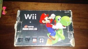 Nintendo Wii Negra Edición Mario Bros Incluye 2 Juegos