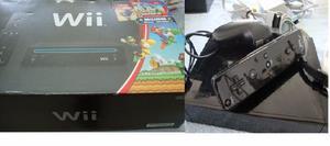 Nintendo Wii. Super Mario Bross Wii, Color Negro, Poco Uso