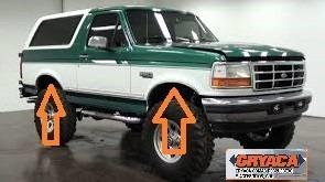 Platina Borde Rueda Ford Bronco