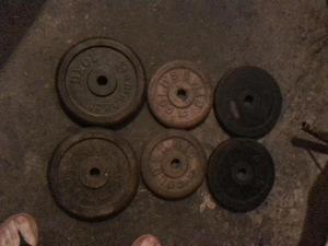 vendo juego de pesas
