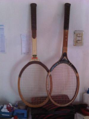 Combo Raqueta De Madera Tennis Para Niños
