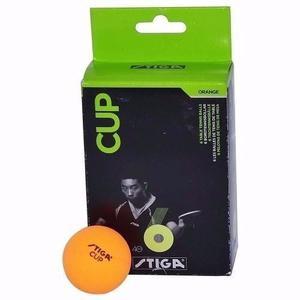 Pelotas Cup Stiga (6) Tenis De Mesa  (naranja)