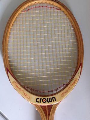 Raqueta De Tenis De Cancha British Crown En Madera Original