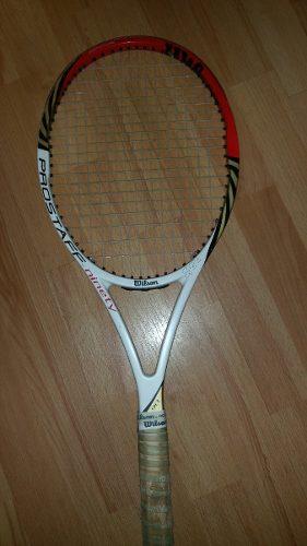 Raqueta De Tennis Y Bolso Wilson Pro Staff Roger Federer