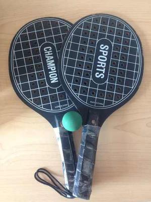 Raquetas Negras De Tenis De Playa Usadas