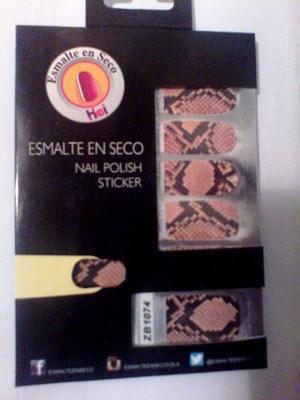 Sticker Para Uñas. Esmalte Seco Piel De Serpiente Marron