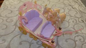Carruaje De La Barbie Con Sus Caballos