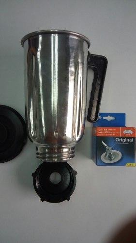 Kit Oster Vaso De Aluminio Cuchilla Rosca Y Tapa De Calidad