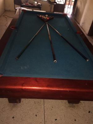 Mesa De Pool Con Sus Accesorios Usada