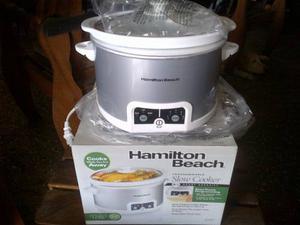 Olla De Coccion Lenta Hamilton Beach Nueva Mod  Digital