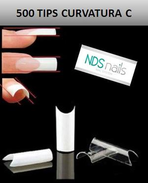 500 Uñas Convers Naturales O Tips Curvatura C Jh Nails