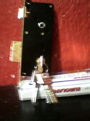 Cerradura Embutir 45 M.m 5 Llaves Seguridad