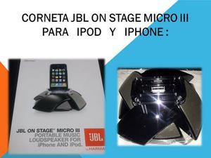 Corneta Jbl On Stage Micro Ill Para Ipod Y Iphone