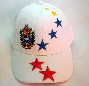 Gorras De Venezuela Escudo Y Estrellas 100% Original ???
