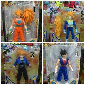 Juguetes Dragon Ball Z Set De 3 Figuras Goku Vegeta Sayajin