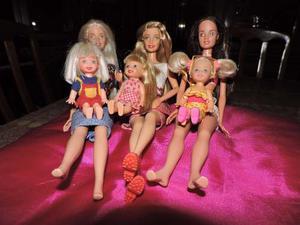 Muñecas Barbie Con Kelly Originales.