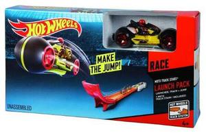 Pista De Moto Hot Wheels Con Lanzador