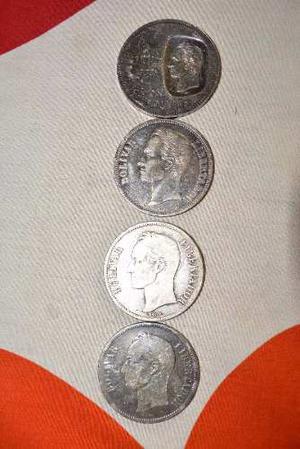 4 Monedas, Doblón De Plata gr