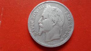 5 Francos de Plata Ley 900 Año