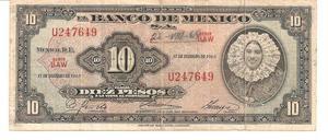Billete de 10 Pesos Año