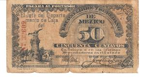 Billete de 50 Centavos Año