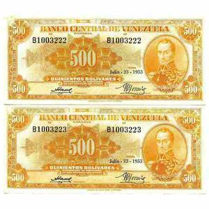 Billetes De Coleccion Venezolanas