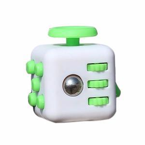 Cubo Antiestres Ansiedad Fidget Cube Blanco Con Verde