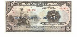 En venta billete de Bolivia