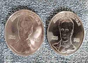 Moneda Conmemorativa De Plata Bs.100 Simon Bolivar