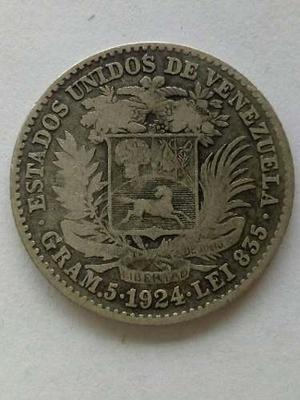 Moneda De Plata Gram 5 Lei  Bolívar