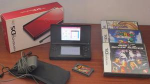 Nintendo Ds Lite, Incluye 4 Juegos, En Excelente Estado