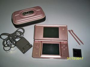 Nintendo Ds Lite Rosado Con Accesorios Y Juego
