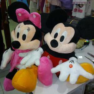 Peluche Mickey Y Minnie Mouse Pareja 50cm