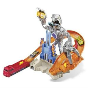 Pista Hot Wheels Deten Al Robot Original