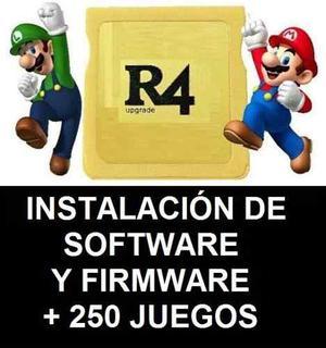 R4 Nintendo Ds Instalación De Software Y Firmware + Juegos