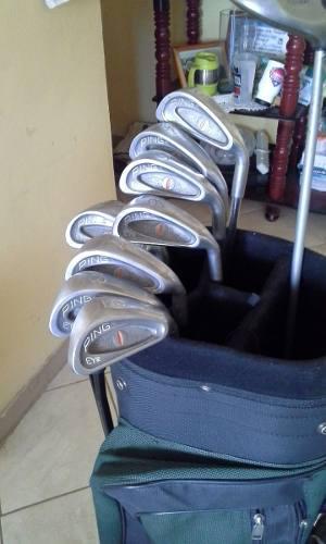 Palos De Golf Ping Y Maderitas 3, 5 Y Driver 10 Callaway