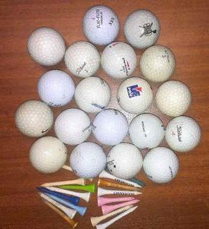 Pelotas De Golf Usadas En Perfecto Estado Con Tee De Regalo.