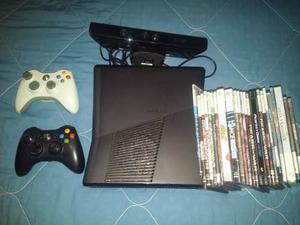 Xbox 360 Slim + 2 Controles + Kinect + Juegos + Rgh 3.0..