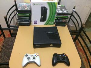 Xbox 360 Slim 80juegos 2 Controles