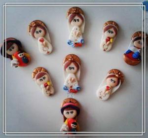 Dijes De Virgenes En Masa Flexible