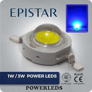 Led 3w Azul Epistar High Power 10 Leds + 10 Bases