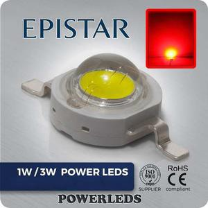 Led 3w Rojo Epistar High Power 10 Leds + 10 Bases