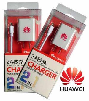 Cargador Huawei 2 En 1 De 2.1 Amp Carga Rápida Nuevo En