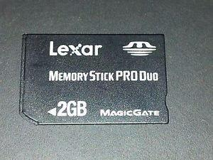 Memoria Stick Pro Duo 2 Gb Para Camara Sony Y Psp Lexar